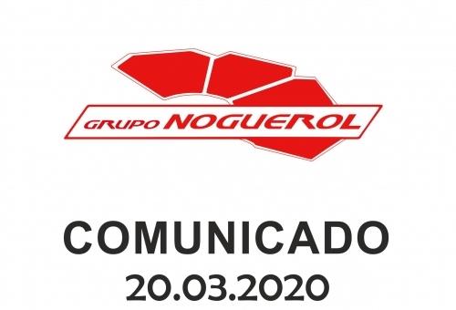 Grupo Noguerol: Comunicado 20.03.2020